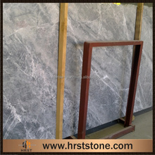 polished slab Nordic silver Grey marble