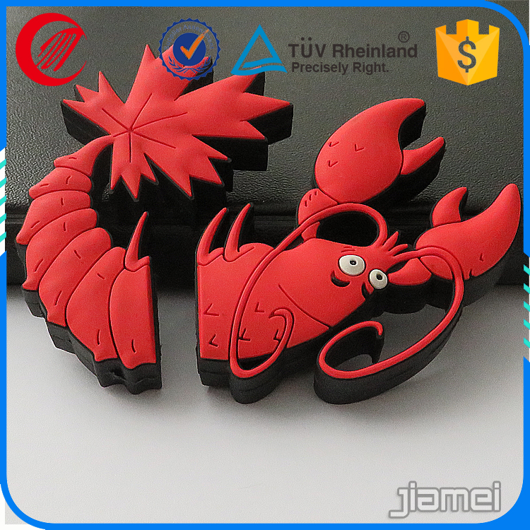 Advertising cheap 3d custom rubber crab shaped usb keychains
