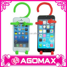 Mobile accessories popular gift novelty rubber silicone mobile charge holder