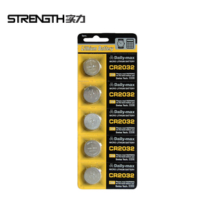 3V CR2032 Lithium button cell battery with blister card packing