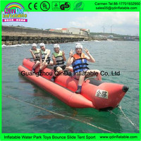 Guangdong factory produces good quality amusement rides for water sport the inflatable banana boat made from PVC