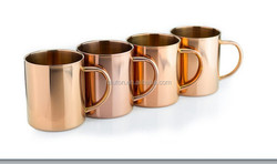 16 Oz Moscow Mule Copper Mugs with 4 pack