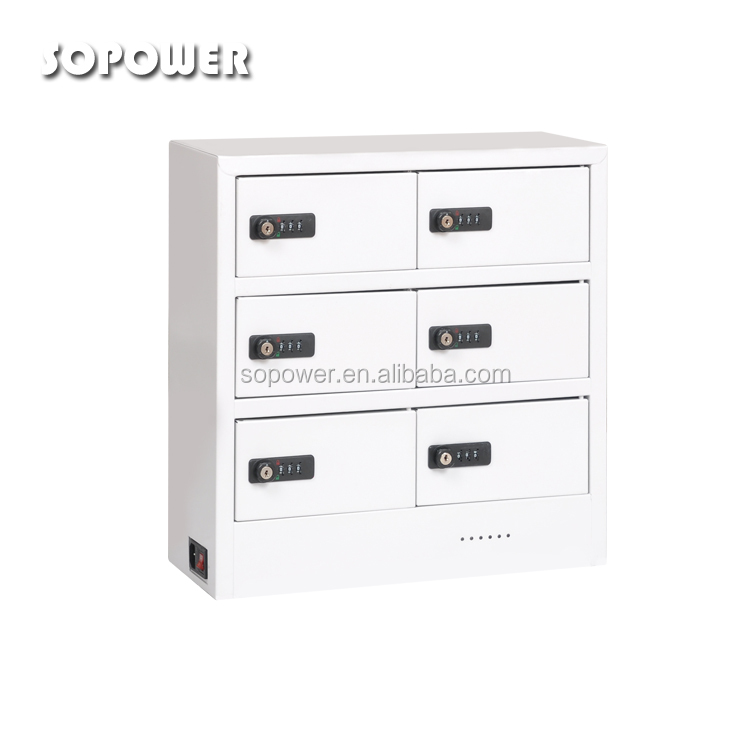 2016 New technology 6 port charging station lockers mobile phone charging station for ipad/iphone