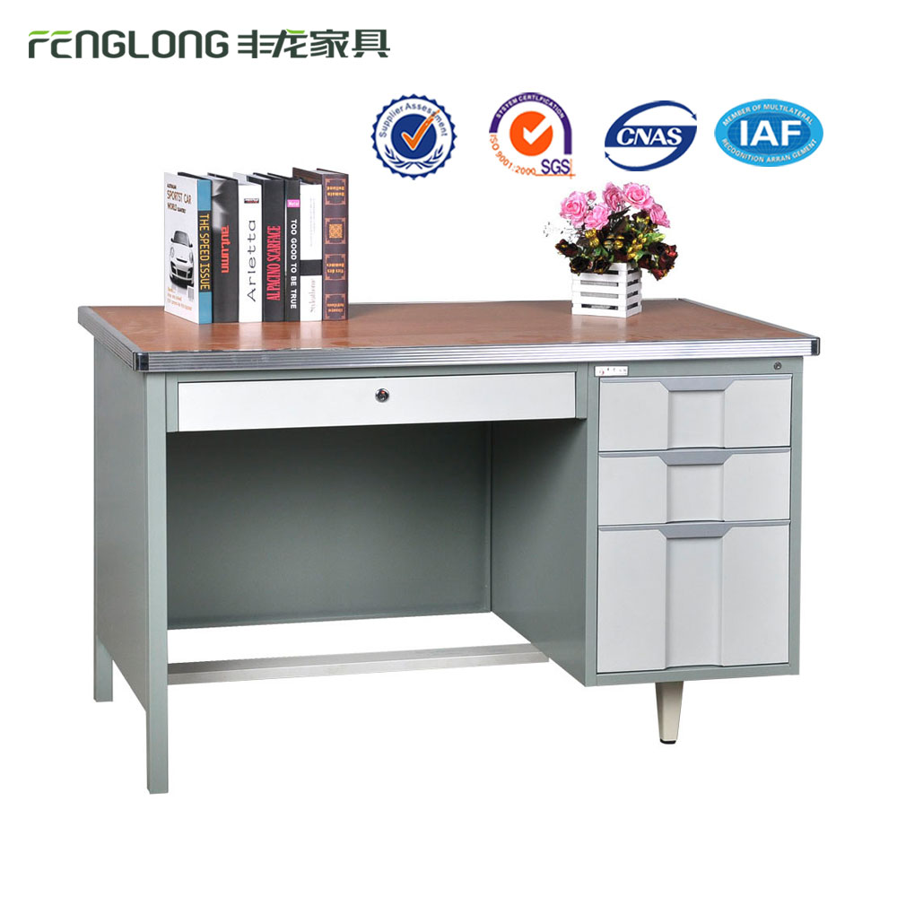 Hot Sale Simple Design Metal Office Table/Steel Computer Desk