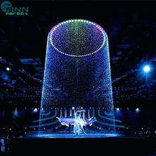 Indoor event writing graphical rain curtain digital waterfall wedding decoration