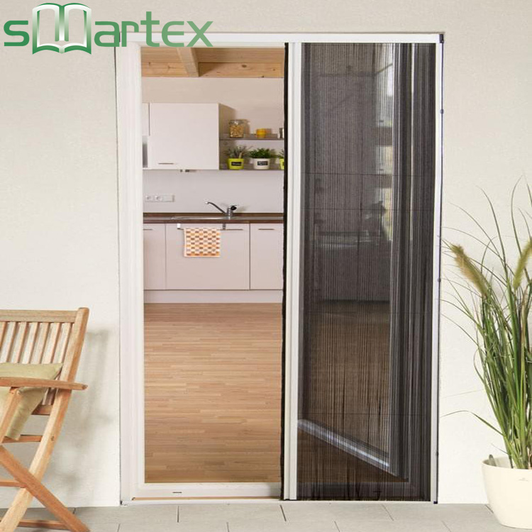 Wind-resistance brushes high efficiency high quality retractable screen door