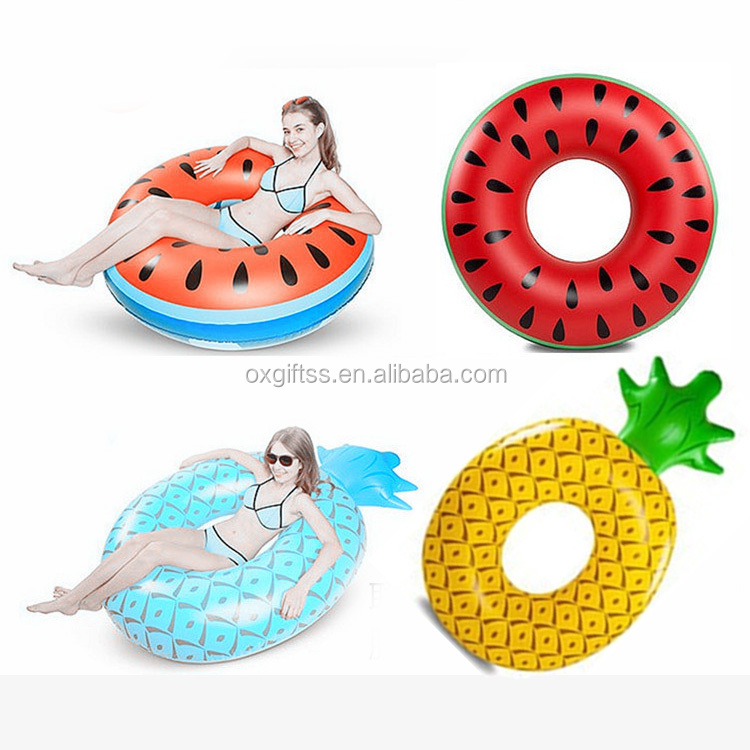 OXGIFT Made in China Alibaba wholesale Manufacture pvc Children and adults Watermelon swimming ring