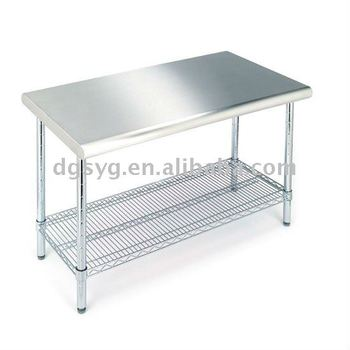 304 Stainless Steel Pantry Worktable for Kitchen Room and Clean Room