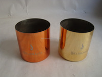 gold metal candle cup holder