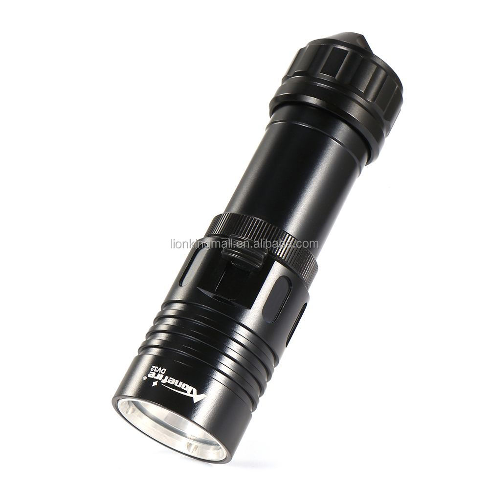 AloneFire DV32 Diving flashlight 18650/26650 LED Underwater Flashlights XM-L2 Waterproof dive light Lamp Torch Portable Lantern