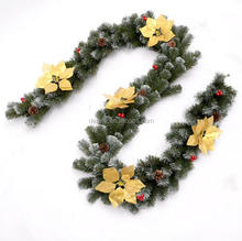 DEMIZXX579 Wholesale Custom Size and Printed Logo Holiday New Fashion Style China Supplier In Stock Products Wreath Christmas