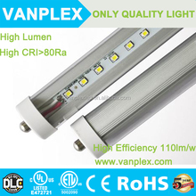 2400mm SMD 2835 Led Fluorescent Tubes Lights ac100-277V UL 36W 8 foot T8 Led Tube with Single Pin