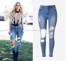 L0146A Best Selling Adults Latest Fashion Pictures Sexy Women Ripped Jeans