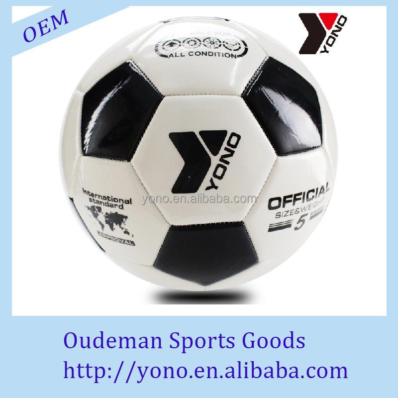Promotional machine stitched soccer ball official size 5# balls for sale