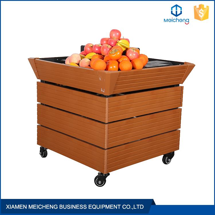 Free standing OEM tier removeable steel storage equipment for fruits and vegetables