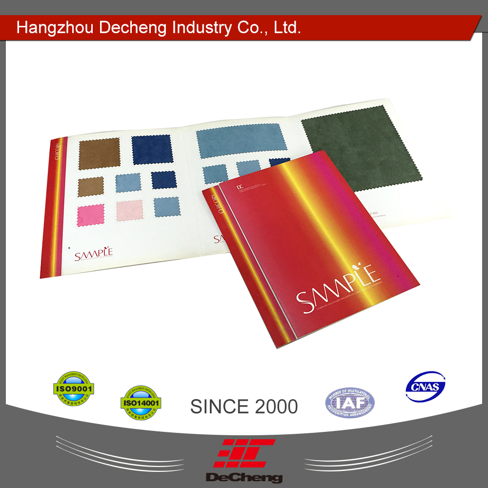 Beautiful fabric file color shade card paper
