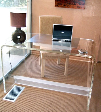 customized high end lucid desk luxury acrylic tables for internet bar