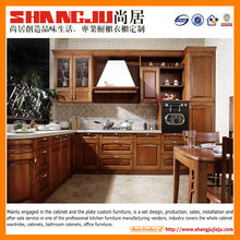 contemporary furniture china outdoor kitchen cabinets with solid wood finished