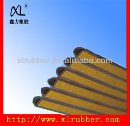 Extrude durable adhesive backed rubber strip