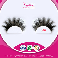 Customed packaging ultra-light lashes own brand 100% real horse fur hair lashes durable horse mink lash false eyelashes