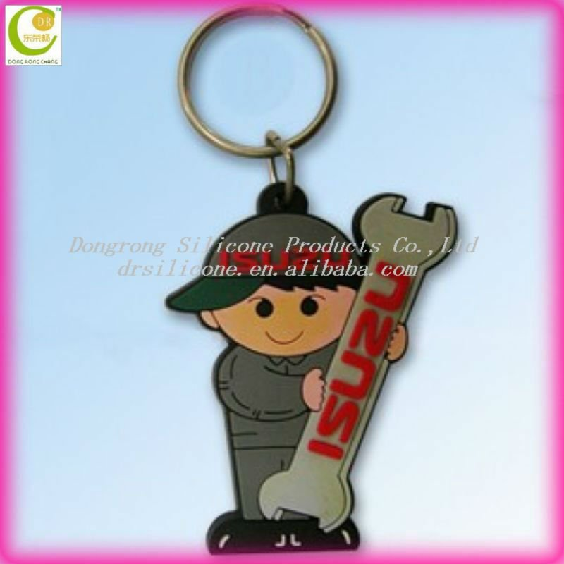 Eco-friendly material silicone keyholder,pvc keyrings,personalized solar keychain in various styles