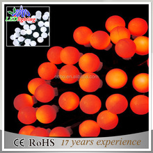 100 LED 33ft/10m Globe String Lights Orange Ball Fairy Light for Party Christmas Wedding New Year Indoor&outdoor Decoration