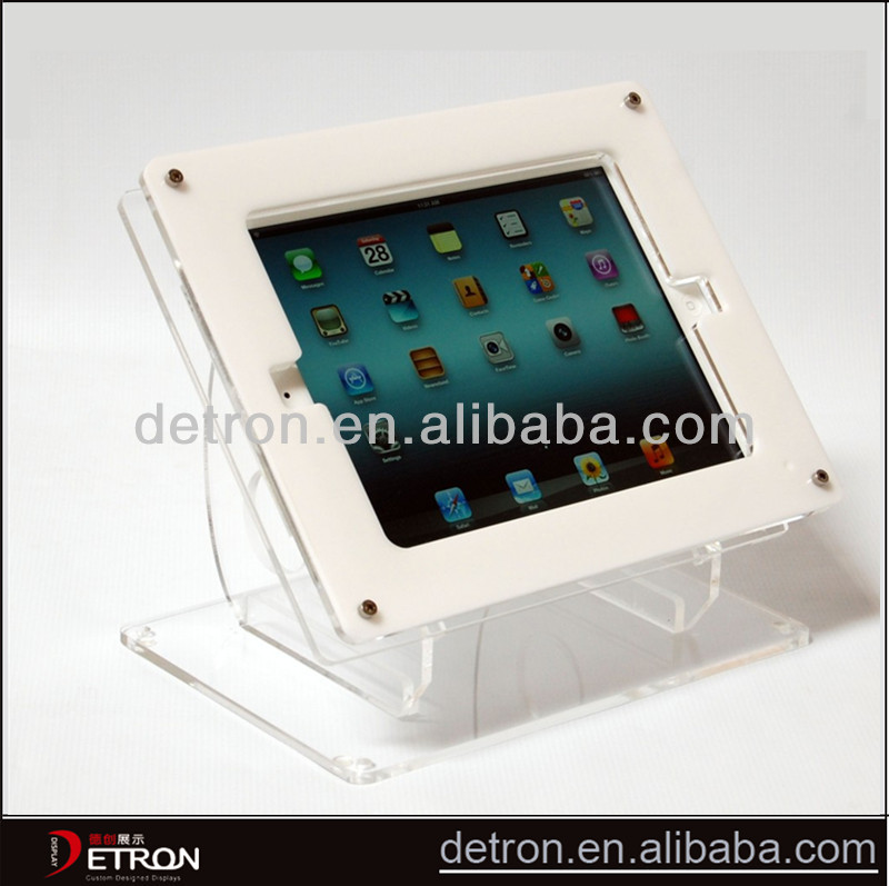 2014 Hot sale and good quality clear acrylic ipad stand ZH-2014166