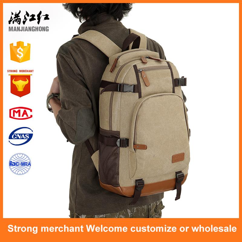 Professional canvas backpack stylish travel backpack bag knapsack
