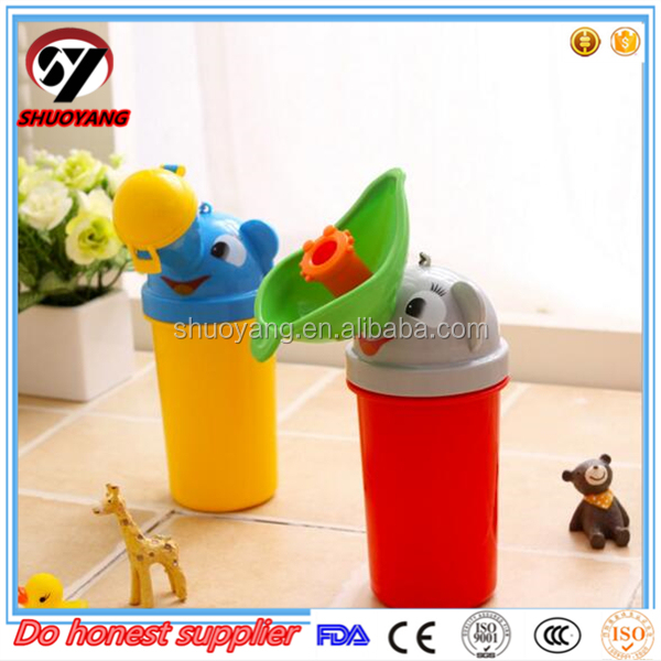 Baby plastic kids pee potty / baby urinal for travel car (boy and girl)