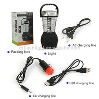 Portable 36LEDs hand crank dynamo camping light rechargeable solar power lantern