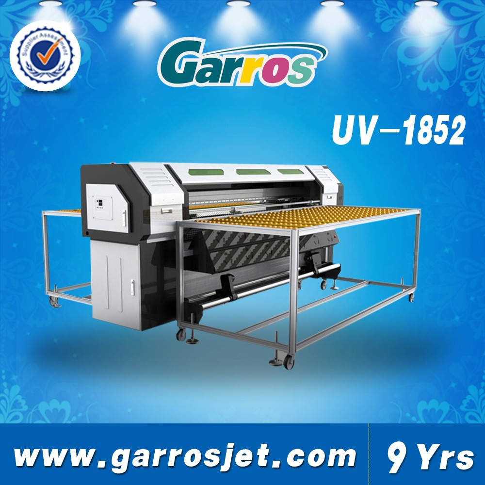 flatbed uv printer-1852 uv printer DX5/DX7 optional double 4 color/quadruple 4 color 1.3m*2.5m 2880dpi*1440dpi*720dpi*360dpi