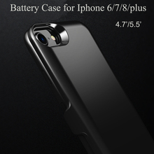 Newest 3000mah 4000mah 5000mAh 6000mah high capacity mobile phone power bank rechargeable battery case for iphone 6/7/8 /plus
