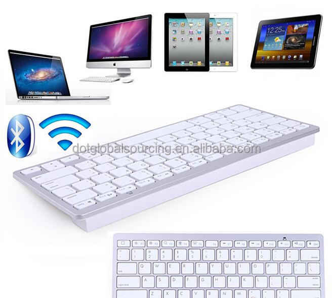 Factory Price Ultra thin Slim Bluetooth 3.0 Wireless Keyboard Keypad for iPad , iPhone, PC Laptop Desktop Netbook,Mobile Phones
