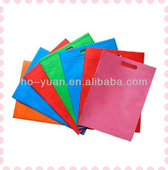 wholesale promotion non woven big shopping bag with handle hole