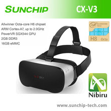 All in one VR 3D Android Video Glasses Octa-Core Andriod 4.4 VR BOXVR BOX VR BOX ALL IN ONE no needsmart phone