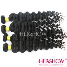 100% human hair unprocessed factory price wholesale india black deep wave virgin hair