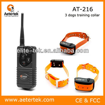Aetertek 3 dogs rechargeable waterproof remote control dog training collar AT-216S 1-3