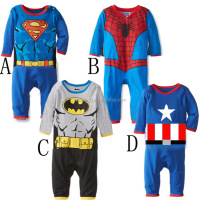 Christmas costume popular boy superhero one piece custumes kids