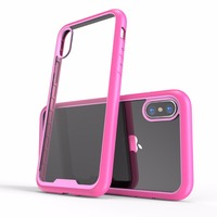 Pink Clear Strong Protective Cases For Iphone X