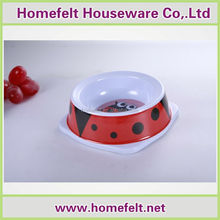 150-350ml Square shaped edge red dots 100% melamine cat bowls