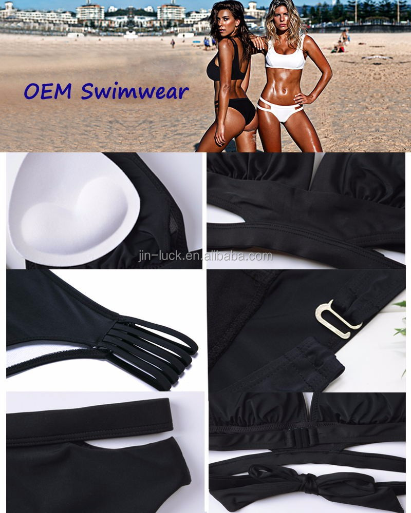 (Free sample) 2017 Wholesale Fashion girls beachwear ,OEM Custom bikini swimwear