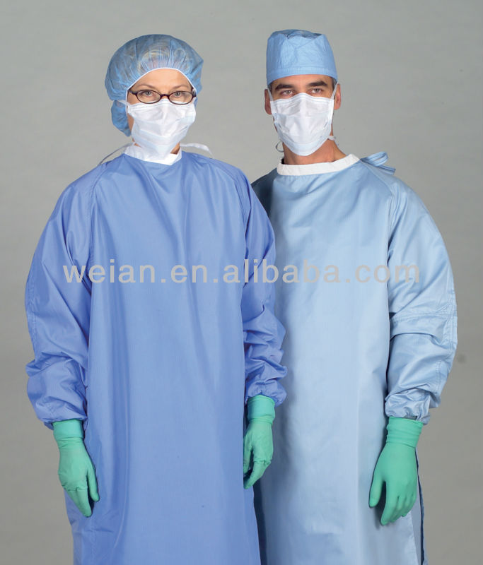disposable nonwoven surgical gown/cloth/garments disposable gowns medical white cotton surgical hospital gown