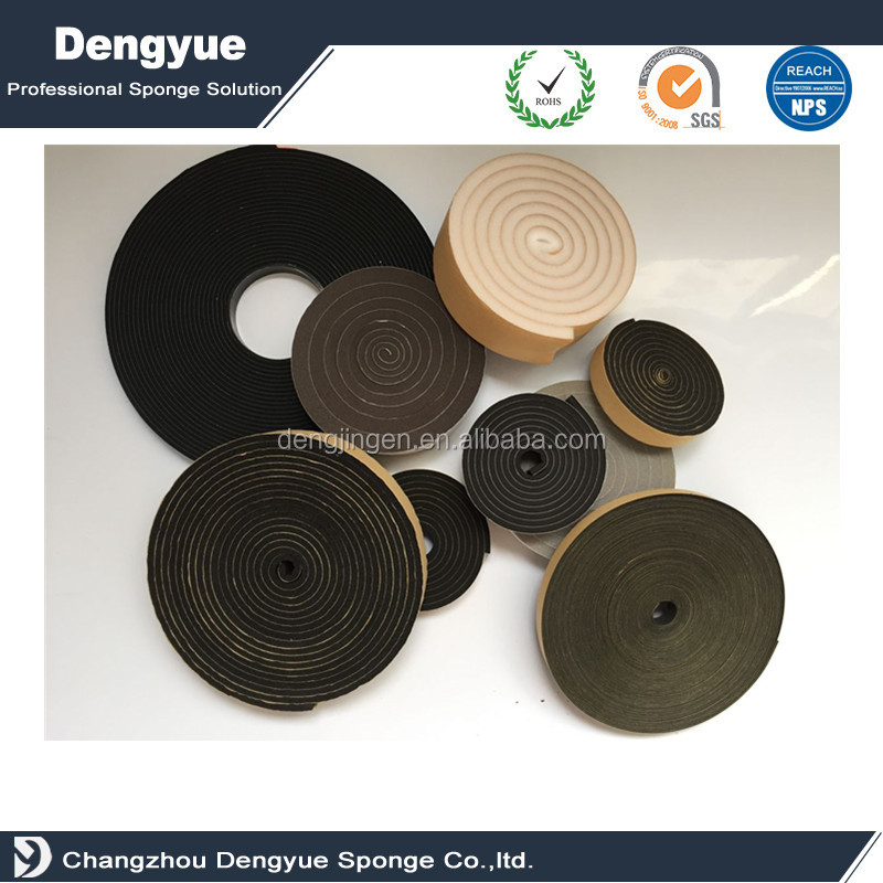 Self-adhesive EPDM Doors and Windows Draught Excluder Foam Seal Strip Soundproofing Collision Avoidance Rubber Weatherstrip