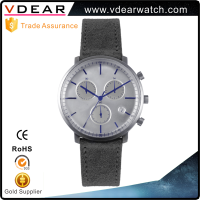 Unisex chrono eye watch custom logo watch