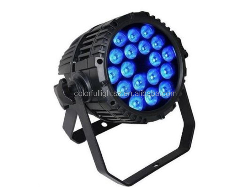 18*10W LED RGBW 6in1 IP65 Waterproof Par Light/led sphere waterproof light