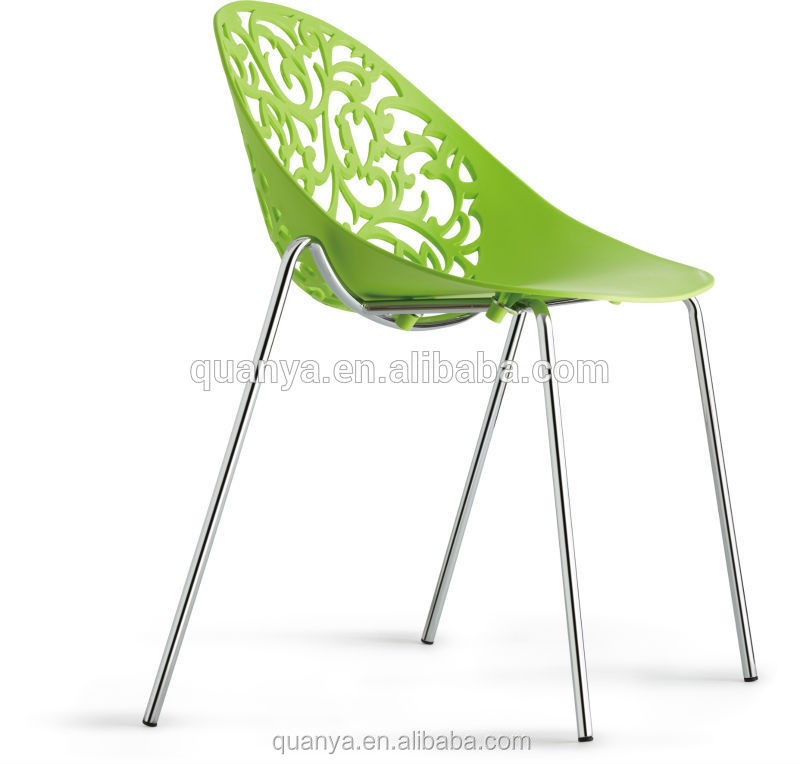 Replica Birch Tree Plastic Chair Sapling Acent chair Metal frame dining furniture
