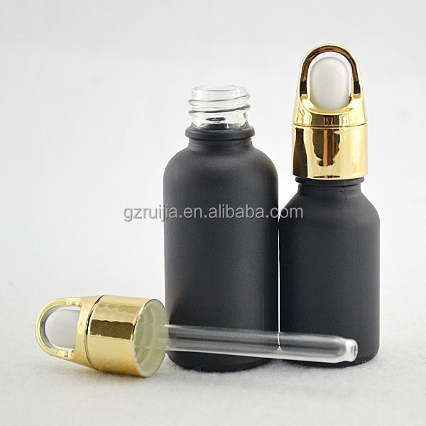 olive oil bottle frosted black glass dropper bottles wholesale glass bottles