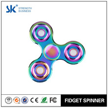 Sanke 2017 rainbow dazzled metal spinner rotational toy tangle fidget hand spinner