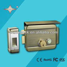 electric rim lock with waterproof electronic lock mechanism