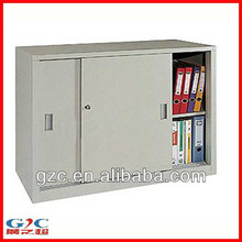 Sliding Door Two Tier Filing Cabinet